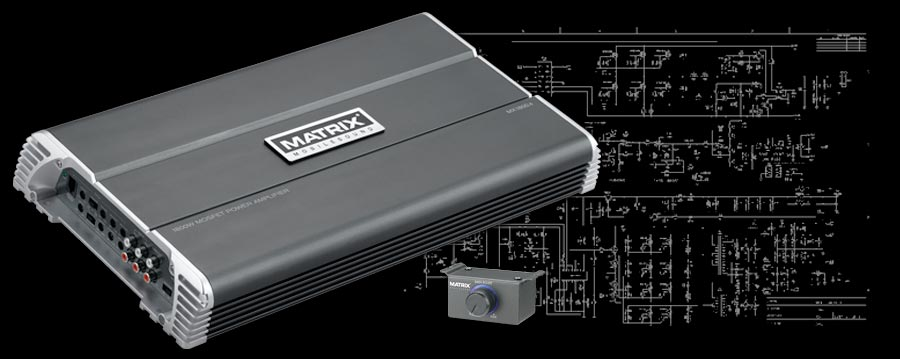 Matrix Mobilesound MX1800.4 Power Amplifier
